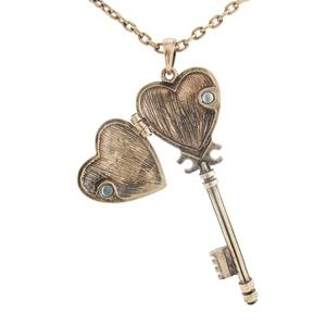 Antiquated Key Locket Necklace